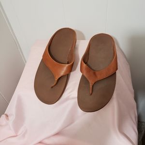 Fitflops Leather Thong Sandals 11 Brown
